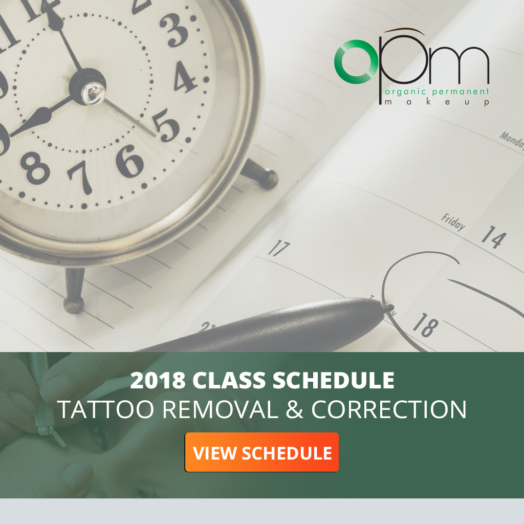 Click To View Tattoo Removal & Correction Training 2018 Class Schedule